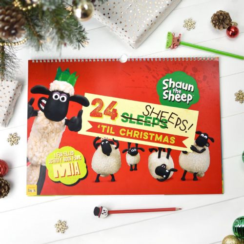 Personalised Shaun the Sheep 24 Sheeps Activity Advent Calendar
